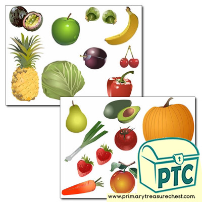 Healthy Food Storyboard / Cut & Stick Images