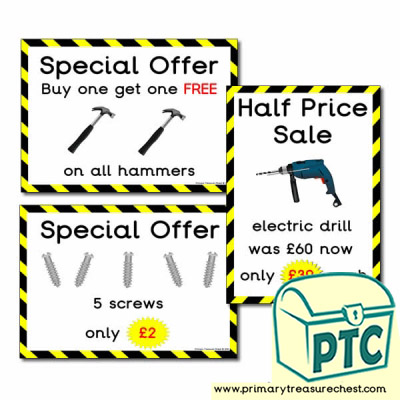 Role Play DIY Shop Special Offers (21p - £99)