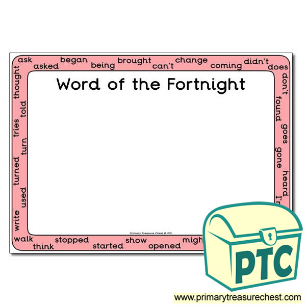 HF Words (Year 4) - Word of the Fortnight Poster