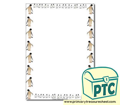Penguin themed Page Borders/Writing Frames (no lines)