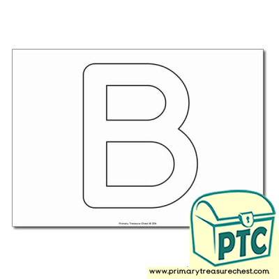Uppercase Letter 'B' Bubble  A4 Poster - No Images.