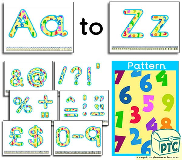 Number themed Display Lettering