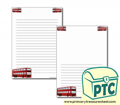 Bus Station Themed Page Border/Writing Frame (narrow lines)