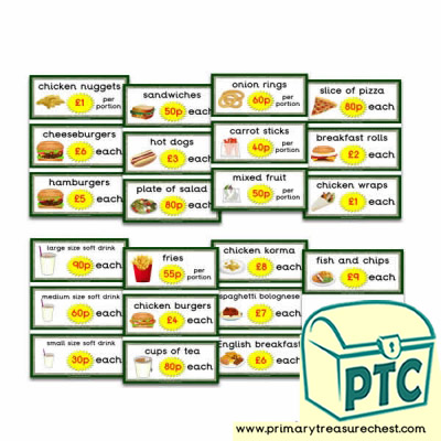 Dinosaur Park Cafe Flashcards (21p - £99)