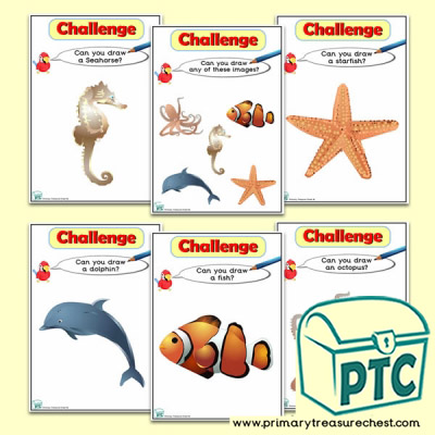 Under The Sea Themed ICT Challenge Cards