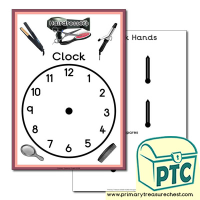 Role Play Hairdressers Themed Clock