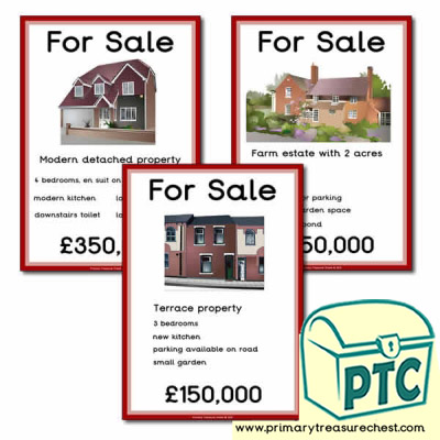 Estate Agents Role Play Posters