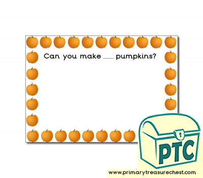 Pumpkin Number Playdough Mat