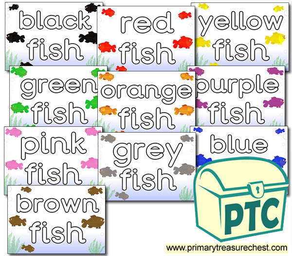 Literacy Playdough Mats - HF Colour Words