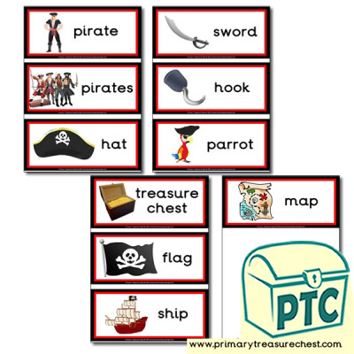 Pirate Themed Flashcards