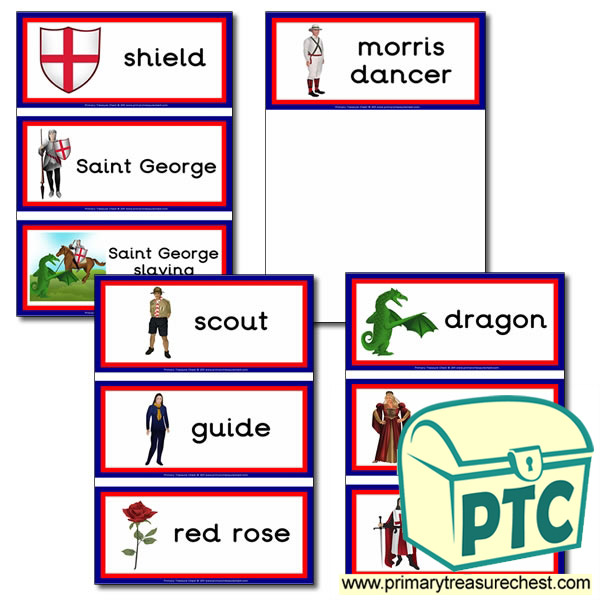 Saint George's Day Themed Flashcards