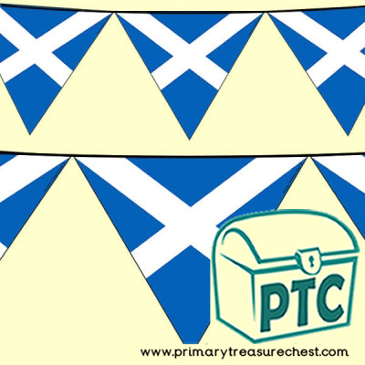 Scottish Flag Bunting for St Andrew's Day