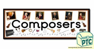 'Composers' Display Heading/ Classroom Banner