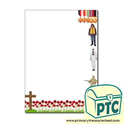 Remembrance Day Page Border /Writing Frame (no lines)