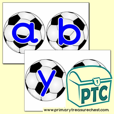 Football Themed Alphabet Cards (lower case)