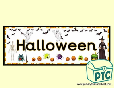 'Halloween' Display Heading/ Classroom Banner