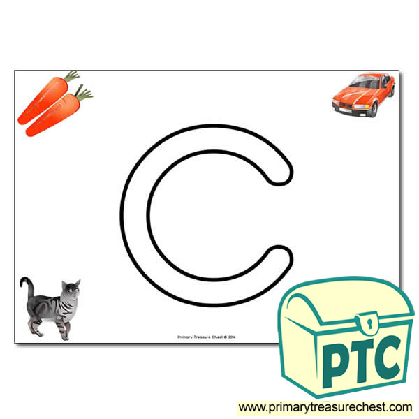 'c' Lowercase Bubble Letter A4 Poster containing high quality and realistic images