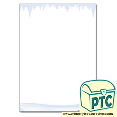 Snow and Ice Themed Page Border / Writing Frame (no lines)