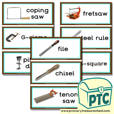 Tools Themed Flashcards