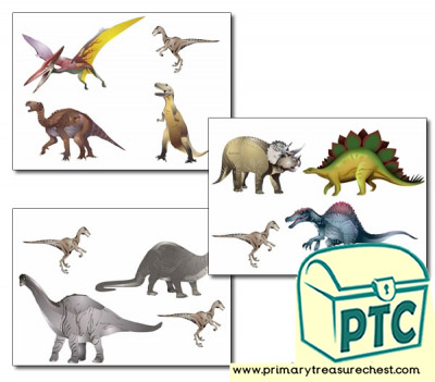 Dinosaur Storyboard / Cut & Stick Images