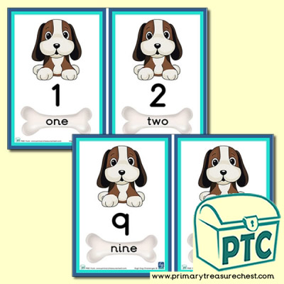 Digit Dog Themed Number Line 0 to 10
