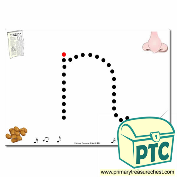 'n' Lowercase Letter Formation Activity - Join the Dots
