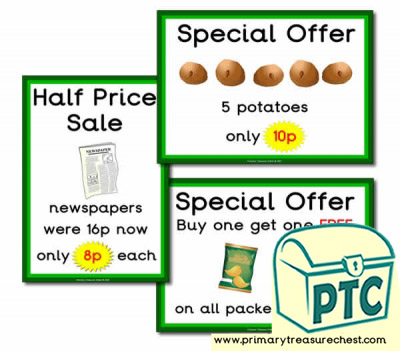 Role Play Campsite Shop Special Offers (1-20p)
