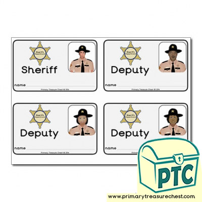 Role Play Sheriff ID Badges