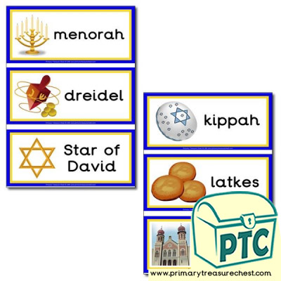 Hanukkah Themed Flashcards
