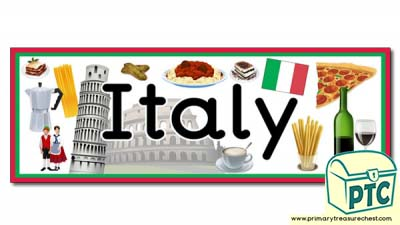 'Italy' Display Heading / Classroom Bannner
