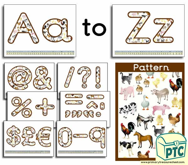 Farm Animal themed Display Lettering
