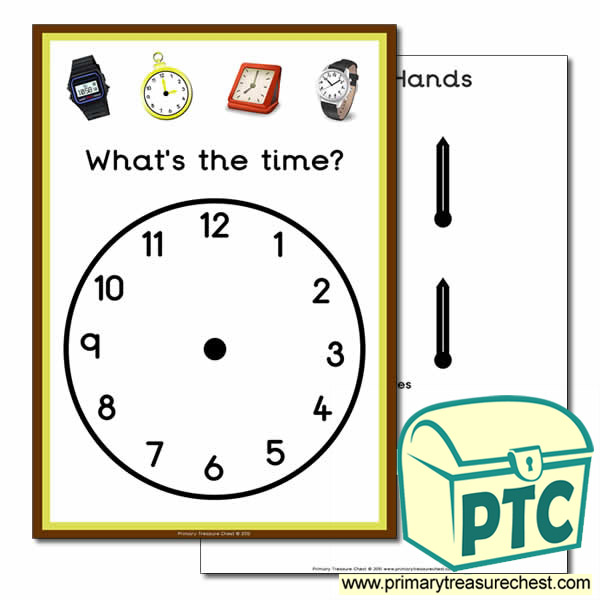 'What's the time' A4 clock poster