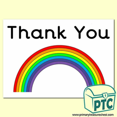 Thank You Rainbow Poster