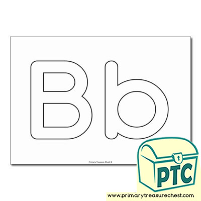 'Bb' Upper and Lowercase Bubble Letters A4 Poster - No Images.