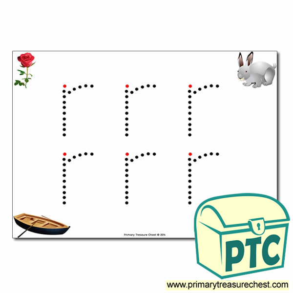 'r' Lowercase Letter Formation Activity - Join the Dots