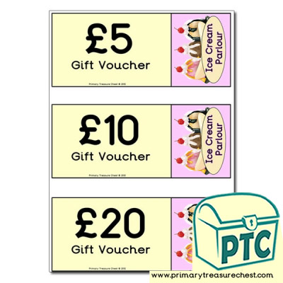 Ice Cream Parlour Shopping vouchers