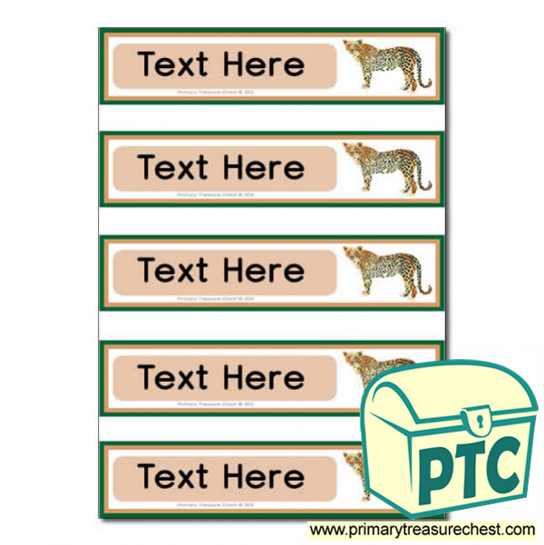 Cheetah Pupil Drawer Labels (Small)