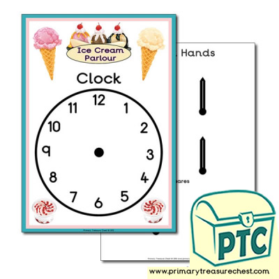 Ice Cream Parlour Role Play Clock