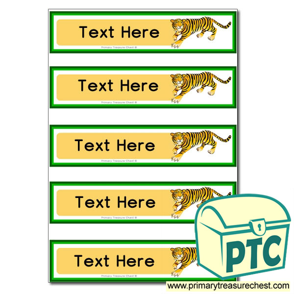 Tiger Pupil Drawer Labels (Small)