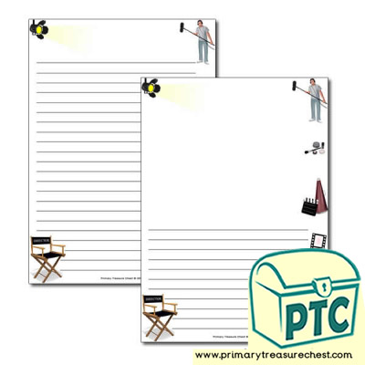 Film Studio Themed Page Border/Writing Frame (narrow lines)