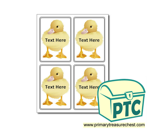 Animal - Duckling Themed Registration Name Cards