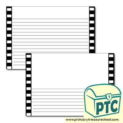 Camera Film Themed Landscape Page Border/Writing Frame (narrow lines)