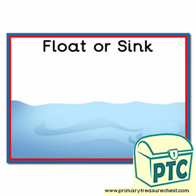 Float and Sink Sorting Activity