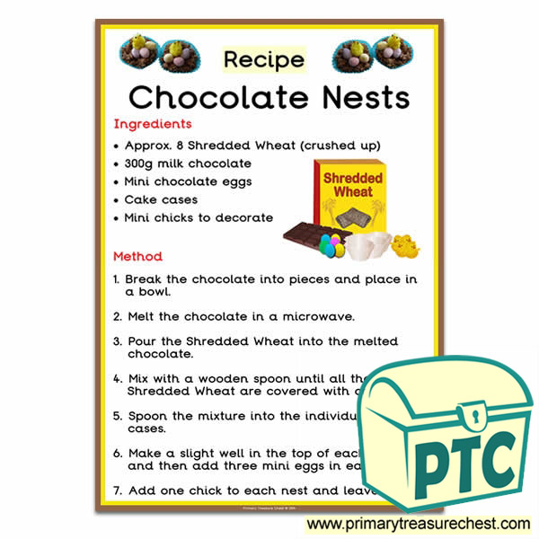 'Chocolate Nests' Recipe using Shredded Wheat