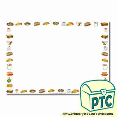 Sandwich Shop Themed Landscape Page Border/Writing Frame (no lines)