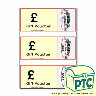 Role Play Electrical Shop Vouchers