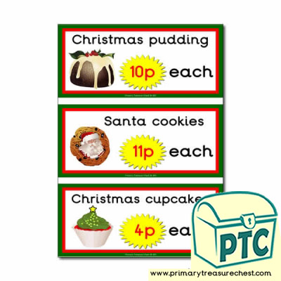 Christmas Cafe Prices (1-20p)