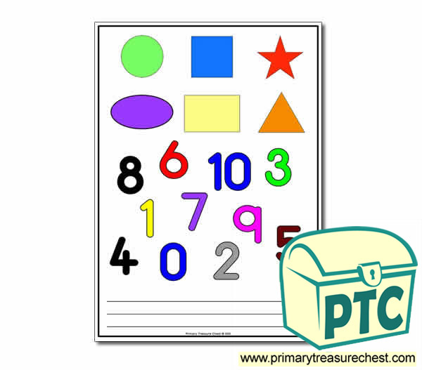 Shapes and Numbers Assessment Sheet