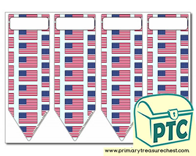 American Flag Bookmarks