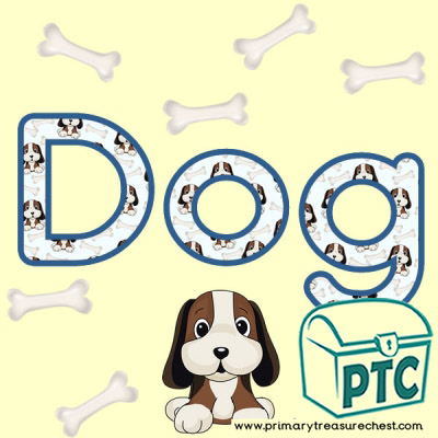 Digit Dog Display Lettering
